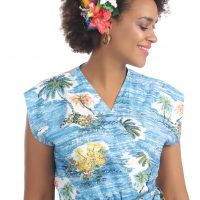 Blue Tropical Palm