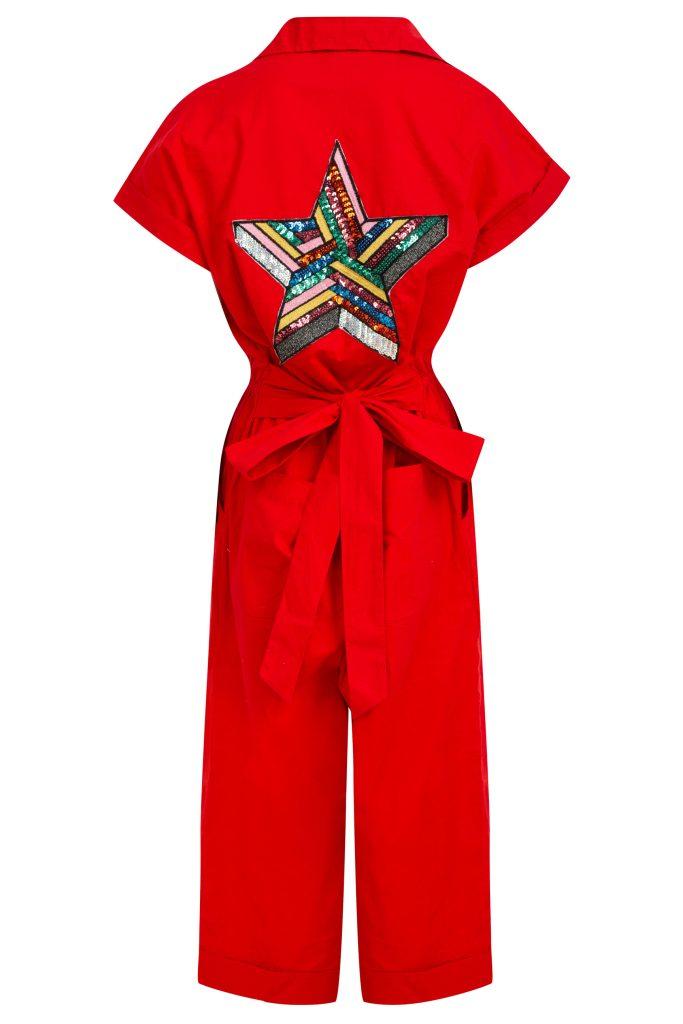 Sequin Back Jumpsuit